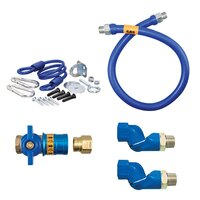 36 inch Dormont 1675KITCF2S Safety Quik Gas Appliance Connector Kit with SwivelMax Deluxe - 3/4 inch Diameter