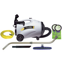 ProTeam 107152 10 Qt. QuietPro CN HEPA Canister Vacuum with 107100 Xover Floor Tool Kit D and HEPA Filtration System - 120V