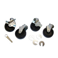 True 830277 4 inch Swivel Stem Casters - 4 / Set