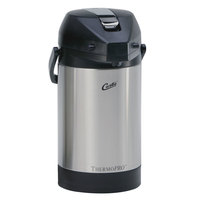 Curtis TLXA2501S000 2.5 Liter Stainless Steel Low Profile Lever Airpot with Liner - 6 / Case