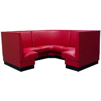 American Tables & Seating AS-48-3/4 Plain Fully Upholstered Corner Booth 3/4 Circle - 48 inch High