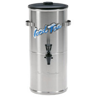 Curtis TC-10H Round Stainless Steel 10 Gallon Iced Tea Dispenser with Plastic Lid