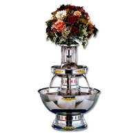 Apex 4003-04-GT Princess 5 Gallon 3 Tier SS Beverage Fountain with Gold Bow Tie Trim & Waterfall Set