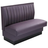 American Tables & Seating AS-4212-D Single Deuce 12 Channel Back Upholstered Booth - 42 inch High