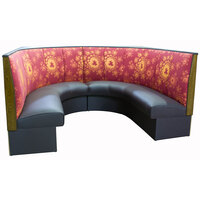 American Tables & Seating AS-483-1/2 3 Channel Back Upholstered Corner Booth 1/2 Circle - 48 inch High