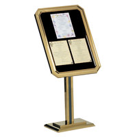 Aarco Brass 49 inch x 23 inch Single Pedestal Ornamental Sign Stand