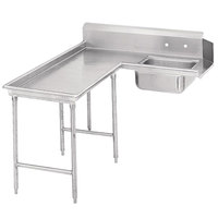 Advance Tabco DTS-G30-120 10' Spec Line Stainless Steel Soil L-Shape Dishtable