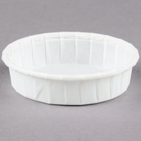 Dart Solo SCC100S 1 oz. Squat White Paper Souffle / Portion Cup 250/Box
