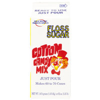 Great Western Pina Colada Cotton Candy Floss Sugar 1/2 Gallon Cartons 6 / Case