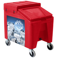 Red Ice Caddy II 140 lb. Mobile Ice Bin / Beverage Merchandiser