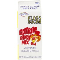 Great Western Apple Cotton Candy Floss Sugar 1/2 Gallon Cartons 6 / Case