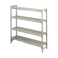 Cambro Camshelving Premium CPU216064V5480 Shelving Unit with 5 Vented Shelves 21 inch x 60 inch x 64 inch