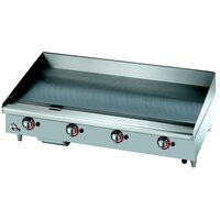 Star Max 548CHSF 48 inch Countertop Electric Griddle with Chrome Plate and Snap Action Thermostatic Controls - 16000W