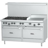Garland G48-6G12CS 6 Burner 48 inch Gas Range with 12 inch Griddle, Convection Oven, and Storage Base - 254,000 BTU