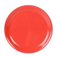9 inch Orange Narrow Rim Melamine Plate - 12/Pack