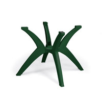 Grosfillex US850078 Resin Y Leg Outdoor Table Base - Amazon Green