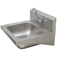 Advance Tabco 7-PS-49 Hand Sink with Splash Faucet - 19 inch x 19 inch