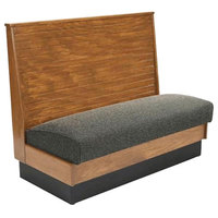 American Tables & Seating AS42-WBB-SSW Bead Board Back Standard Seat Wood Wall Bench - 42 inch High