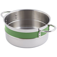Bon Chef 62300NC Classic Country French Collection 2.3 Qt. Green Steam Table Pot with Riveted Handles