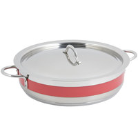 Bon Chef 60032CLD Cucina 9 Qt. Red Brazier Pot with Cover