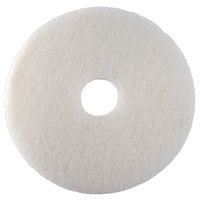 Scrubble by ACS 41-12 Type 41 12 inch White Polishing Floor Pad - 5/Case