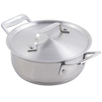 Bon Chef 60027 Cucina 36 oz. Stainless Steel Round Dish with Lid