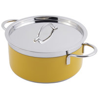 Bon Chef 60300 Classic Country French Collection 2.3 Qt. Yellow Pot with Cover