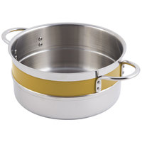 Bon Chef 62300NC Classic Country French Collection 2.3 Qt. Yellow Steam Table Pot with Riveted Handles