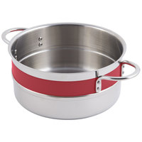 Bon Chef 62300NC Classic Country French Collection 2.3 Qt. Red Steam Table Pot with Riveted Handles