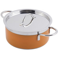 Bon Chef 60299 Classic Country French Collection 1.7 Qt. Orange Pot with Cover