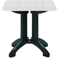 Grosfillex US810004 Vega 32 inch Square Resin Folding Outdoor Table - White - 12/Case
