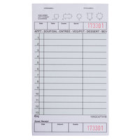 Choice 1 Part Green and White Guest Check with Beverage Lines and Bottom Guest Receipt - 10 Books / Pack