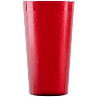 Cambro 1600P156 Colorware 16.4 oz. Ruby Red Plastic Tumbler - 6/Pack