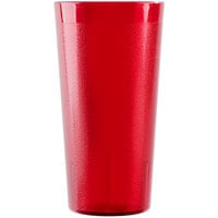 Cambro 2000P156 Colorware 22 oz. Ruby Red Plastic Tumbler - 6/Pack