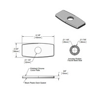 T&S 009345-45 Escutcheon Cover Plate