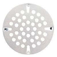 T&S 010386-45VR 3 1/2 inch Vandal Resistant Locking Flat Strainer for Waste Drains