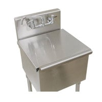 Advance Tabco LSC-24 21 inch x 24 inch Stainless Steel Sink Compartment Cover