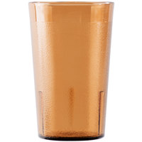 Cambro 950P153 Colorware 9.8 oz. Amber Plastic Tumbler - 6 / Pack