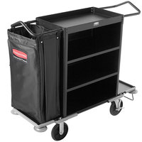 Rubbermaid 9T59 Metal Cruise Housekeeping Cart (FG9T5900BLA)