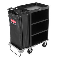 Rubbermaid 9T61 Metal Deluxe Compact Housekeeping Cart (FG9T6100BLA)