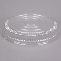 Fineline Platter Pleasers 9801-LL 18 inch Clear PET Plastic Round Low Dome Lid - 25/Case