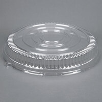 Fineline Platter Pleasers 9801-LL Clear Low Dome Lid for 18 inch Round Thermoform Tray 25 / Case