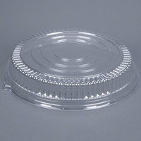 Fineline Platter Pleasers 9601-LL Clear Low Dome Lid for 16 inch Round Thermoform Tray - 25 / Case