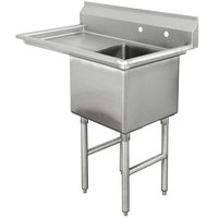 Advance Tabco FC-1-2424-24 One Compartment Stainless Steel Commercial Sink with One Drainboard - 50 1/2 inch