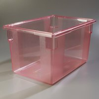 Carlisle 10624C05 StorPlus Red Food Storage Box - 26 inch x 18 inch x 15 inch