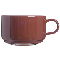 Carlisle 451228 12 oz. Lenox Brown Jumbo Soup / Latte Mug - 24/Case