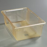 Carlisle 10622C22 StorPlus Yellow Food Storage Box - 26 inch x 18 inch x 9 inch