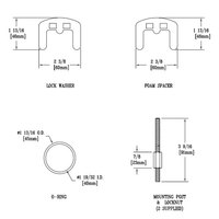 T&S 014163-45 Single Lever Mounting Kit