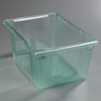 Carlisle 10623C09 StorPlus Green Food Storage Box - 26 inch x 18 inch x 12 inch
