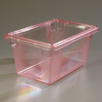 Carlisle 10612C05 StorPlus Red Food Storage Box - 18 inch x 12 inch x 9 inch